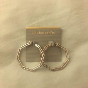 Louise et Cie - Octagon Hoop Earrings